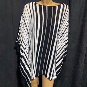 ‼️ Pretty Lightweight Striped Shawl/Cape